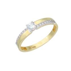 EB15594 Pierścionek złoto 585 r.18