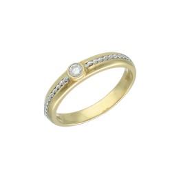12671 Pierścionek złoto 585 z diamentem