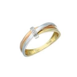 15193 Pierścionek złoto 585 z diamentem r.14