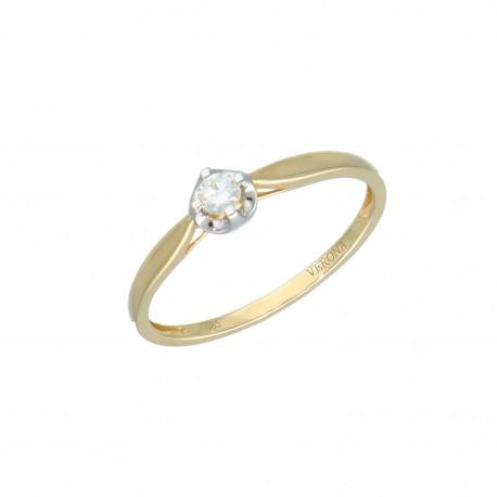 Y01-16501 Pierścionek diamnet złoto 585 r16