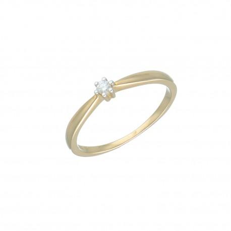 Y01-16524/1 Pierscionek r11 złoto 333